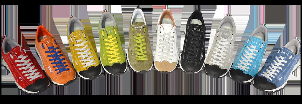 scarpe da trekking colorate